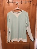 Victoria Secret Pink  Mint Green Extra Small XS Sweatshirt Brand New With Tags