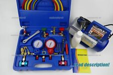 AC Air conditioning heat pump R410a R134a R404 charging gauge manifold kit split