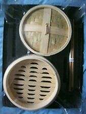 HACHETTE PARTWORKS THE ART OF SUSHI ~ BAMBOO STEAMER WITH LID & CHOPSTICKS NEW