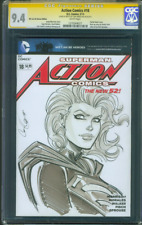 Superman Action Comics 18 CGC SS 9.4 Hamscher Supergirl original art sketch