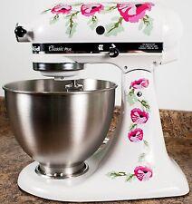 Pink Poppy Flowers Watercolor Kitchenaid Mixer Mixing Machine Decal Art Wrap