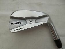 Used Callaway RAZR X Muscle Back Single 6 Iron Project X 5.5 Firm Flex Steel RH