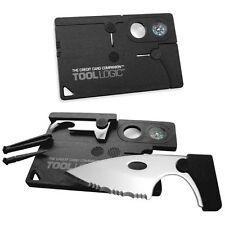 TOOL LOGIC CC1SB Credit Card Companion with Compass/bottle Opener/Pocket Knife