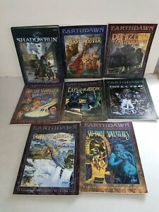 RPG Source Book Lot Shadowrun 4h Ed + Earthdawn