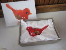 "New listing Pier 1 Imports Miniature 2 1/2"" Art Glass Red Cardinal Bird Figure in Box"