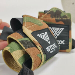 WYOX Weight Lifting Wrist Wraps Support Braces Elastic Straps Band CamoGreen Gym