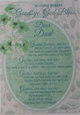 Memorial Grave Card Goodbye God bless Dear Dad 15cm x 10.5cm