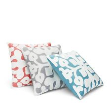 "Bloomingdale's Sky Tile Chain Cotton Square 18"" Decorative Pillow GREY H1124d"