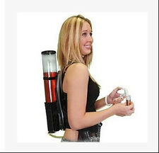 New Updated Acrylic Backpack Dual Dispenser For Beer Drink Liquid Shot Pump Gun