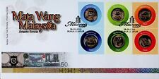 MALAYSIA 2010 MALAYSIAN CURRENCY PAIR OF 3 50 SEN ON KUALA LUMPUR CANCELED FDC