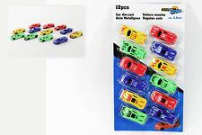 12 x Auto Spielzeug Set Fahrzeuge 6,5 cm NEU Rennwagen  Mitgebsel  Spielzeugauto