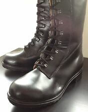 Black Leather Military Combat Boots Army 264/100 Topside Steel Toe Cap Lace UK 8