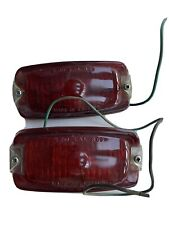 REAR FOG LIGHTS ~ Mini Ford ? Vintage ~ Stainless Steel ~ Classic Car Rare