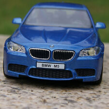 "5"" BMW M5 Alloy Diecast Model Cars Toys Gifts With Pull Back Function Blue New"