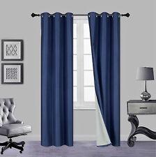 1 Set A72 Insulated Lined Foam Blackout Bronze Grommet Window Curtain Panels