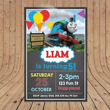 Personalised DIGITAL THOMAS THE TANK ENGINE Kids Party Invitations YOU PRINT
