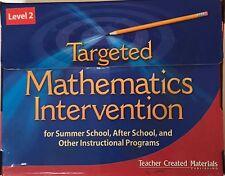 Targeted Mathematics Intervention Level 2 Kit Teacher Created Materials TCM11128