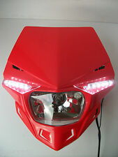 Ufo Road Legal Red Headlight Enduro Streetfighter Custom Xr Crf Mtx Xlr Cbf Gsxr