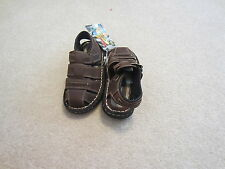 New Nwt Thom McAn Brown Leather Fisherman Sandals Shoes Boys Size 12.5