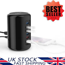 ORICO Powered 4-Port USB 3.0 Data Hub with 2 x 2.4A Fast USB Charger Ports Black