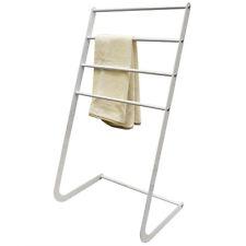sommet - métal 4 échelon Barre Porte - serviettes / vêtements Valet - Blanc