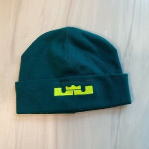 Nike Lebron Baby Boys Teal Green Cotton Knit Beanie Cap Hat One Size