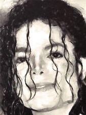 ART PRINT dipinto Ritratto Musicista Cantante Michael Jackson icona BAD nofl0109