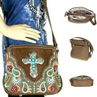 647e5e4ce Montana West Purse Embroidered Turquoise Cross Western Unique Crossbody Bag