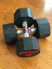 BRAND NEW 30LB PAIR OF RUBBER  HEX DUMBBELLS WEIGHTS