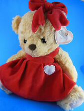 "Cherished Teddies Plush Val 12"" With Red Dress & Bow Priscilla Hillman"