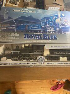 BACHMANN BIG HAULERS ROYAL BLUE G SCALE TRAIN SET IN BOX Nice (KJT429)