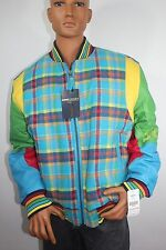 Corona By Schott NYC Multicolor LEATHER/WOOL Bomber Jacket -3XL  $ 300