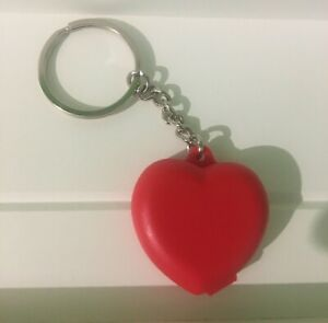 TUPPERWARE RED HEART KEYRING KEYCHAIN - Opens for Storage! Very Cute.
