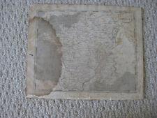 ANTIQUE 1804 FRANCE ARROWSMITH & LEWIS COPPERPLATE MAP PARIS WINE INTEREST NR