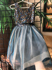 Size 5 Un Deux Trois Child/s Sequin dress with multi-layered tulle skirt