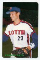 1991 Calbee KENICHI SATO Rare JAPANESE BASEBALL CARD LOTTE ORIONS #150 MINT