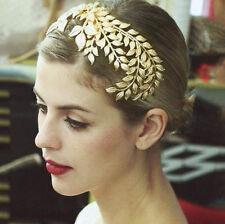 Vintage Luxury Crown Leaves Hair Comb Hairband Headdress Women Jewelry Accessory