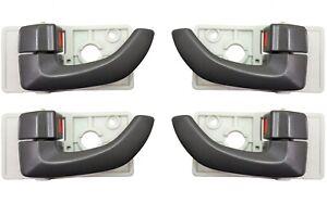 4pcs Silver Left Right Inside Door Handles for 2005-09 Hyundai Tucson 826102E000