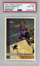 1997-98 Topps Chrome Glenn Robinson Refractor #140 PSA 8 NM-MT Bucks *Pop 1*