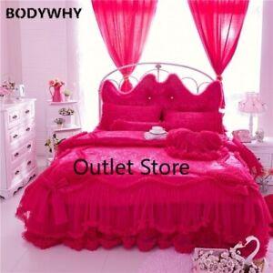 Egypt Cotton Satin Luxury Jacquard Bedding Set3/4/7Pcs Duvet Cover Set Bedskirt