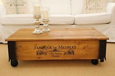 Coffee Table Chest Living Room Table Sofa Wood Solid Vintage Shabby Loft