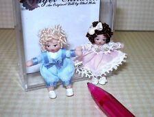 Ethel Hicks Angel Children Tiny Porcelain Babies Gracie and Luke: DOLLHOUSE
