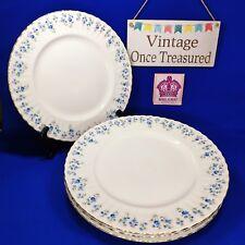 "Royal Albert Memory Lane - 4 x Starter Plates (8"", 20cm) Vintage 1970s VGC"