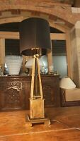 Heavy Bronze And Brass Table Lamp
