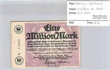 BILLET ALLEMAGNE DORTMUND - 1 MILLION DE  MARKS -  9-8-1923