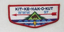 "OA Lodge 97 Kit-Ke-Hak-O-Kut S9 Flap French FDL; BLU ""WWW 97""; CD; back  [B0157]"