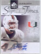 colin mccarthy rookie auto autograph miami hurricanes college sp authentic sott