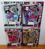 Monster High~4 Picture Day Dolls~Abbey Bominable~Cleo De Nile~Draculaura~Spectra