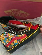 VANS The Simpsons Sk8-Hi Customized Shoes-- SIZE 9 (WOMENS) 7.5 (Mens)