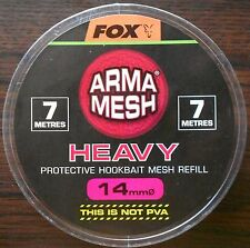 FOX ARMA MESH HEAVY 14mm PROTECTIVE HOOKBAIT MESH REFILL CPV027 NOT PVA 7 METRES